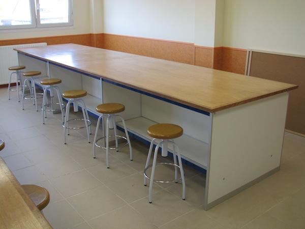 colegios borda laboratorios mesas para alumnos